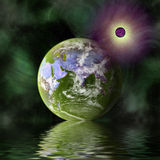 Green planet in space Royalty Free Stock Photo