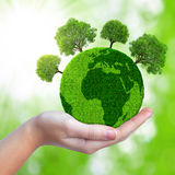 Green planet with trees Stock Images