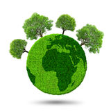 Green planet with trees Stock Photography