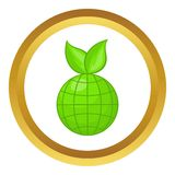 Green planet vector icon Royalty Free Stock Photography