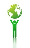 Green planet vector illustration Royalty Free Stock Images