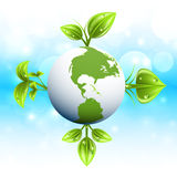 Green planet Stock Photo