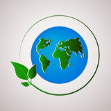 Green planet vector illustration. Ecology concept. Vector illustration Stock Image