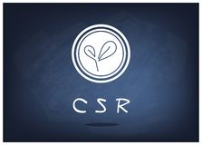 Green Plant with Corporate Social Responsibility Concepts Stock Images