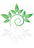 Green plant icon Stock Images