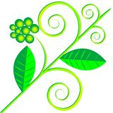 Green plant logo Stock Photos