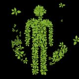 Green plant men Stock Images