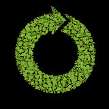 Green plant recycle icon Royalty Free Stock Image