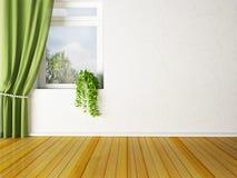 Green plant on the windowsill Stock Photo