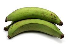Green plantains stock images