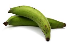 Green plantains over Stock Photo