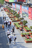 Green plantations in Beijing Central Business District. BEIJING–JUNE 5. Green plantations. The Chinese government effort to improve ecological conditions but Stock Photos