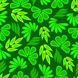 Green plants. The leaves are bright green abstract seamless pattern vector illustration