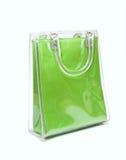 Green plastic bag. Green plastic bag on a white background Stock Photo
