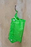 Green plastic bag Stock Images