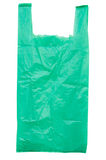Green plastic bag Royalty Free Stock Image