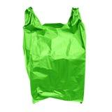 Green plastic bag Royalty Free Stock Photos