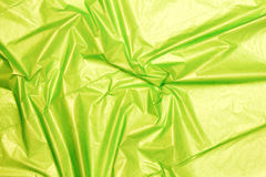 A green plastic bag texture, background Royalty Free Stock Photo