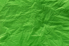 A green plastic bag texture. Macro, background Royalty Free Stock Image