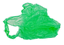 Green plastic bag Stock Image
