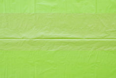 Green plastic bags wrinkled Royalty Free Stock Photography