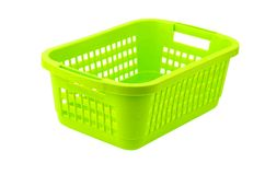 Green plastic basket Royalty Free Stock Photos