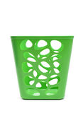 Green plastic basket isolated Stock Photography