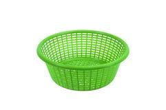 Green plastic basket Stock Photo