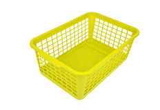 Green plastic basket Stock Photos