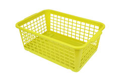 Green plastic basket Stock Images