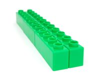 Green plastic blocks Royalty Free Stock Images