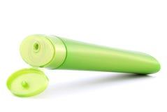 Green plastic bottle Stock Image