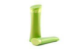 Green plastic bottle Royalty Free Stock Photo