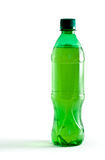 Green plastic bottle with a drink Stock Photo