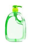 Green plastic bottle Stock Image