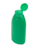 Green plastic bottle Royalty Free Stock Images