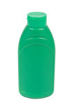 Green plastic bottle Royalty Free Stock Photo