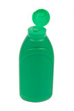 Green plastic bottle Stock Images