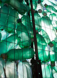 Green plastic bottle recycling Royalty Free Stock Images