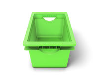Green plastic box for clothes Royalty Free Stock Photography