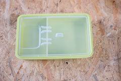 Green plastic box for food storage Stock Photography