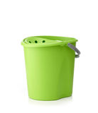 Green plastic bucket Stock Photography