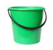 Green plastic bucket. Green plastic bucket isolated on white background Royalty Free Stock Photos