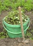 Green plastic bucket Royalty Free Stock Photos