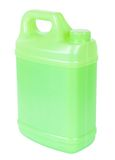 Green plastic canister Royalty Free Stock Images