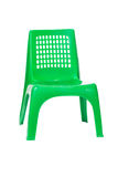 Green plastic chair Stock Photo