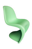 Green Plastic Chair. Modern green children's plastic chairs isolated over white Royalty Free Stock Photography