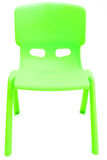 Green plastic chair Stock Photos