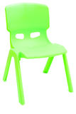Green plastic chair Stock Photography