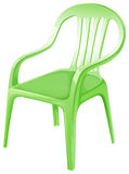 A green plastic chair Stock Photography